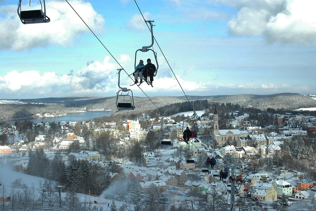 Adlerfelsenbahn in der Skiarena Eibenstock ©WR