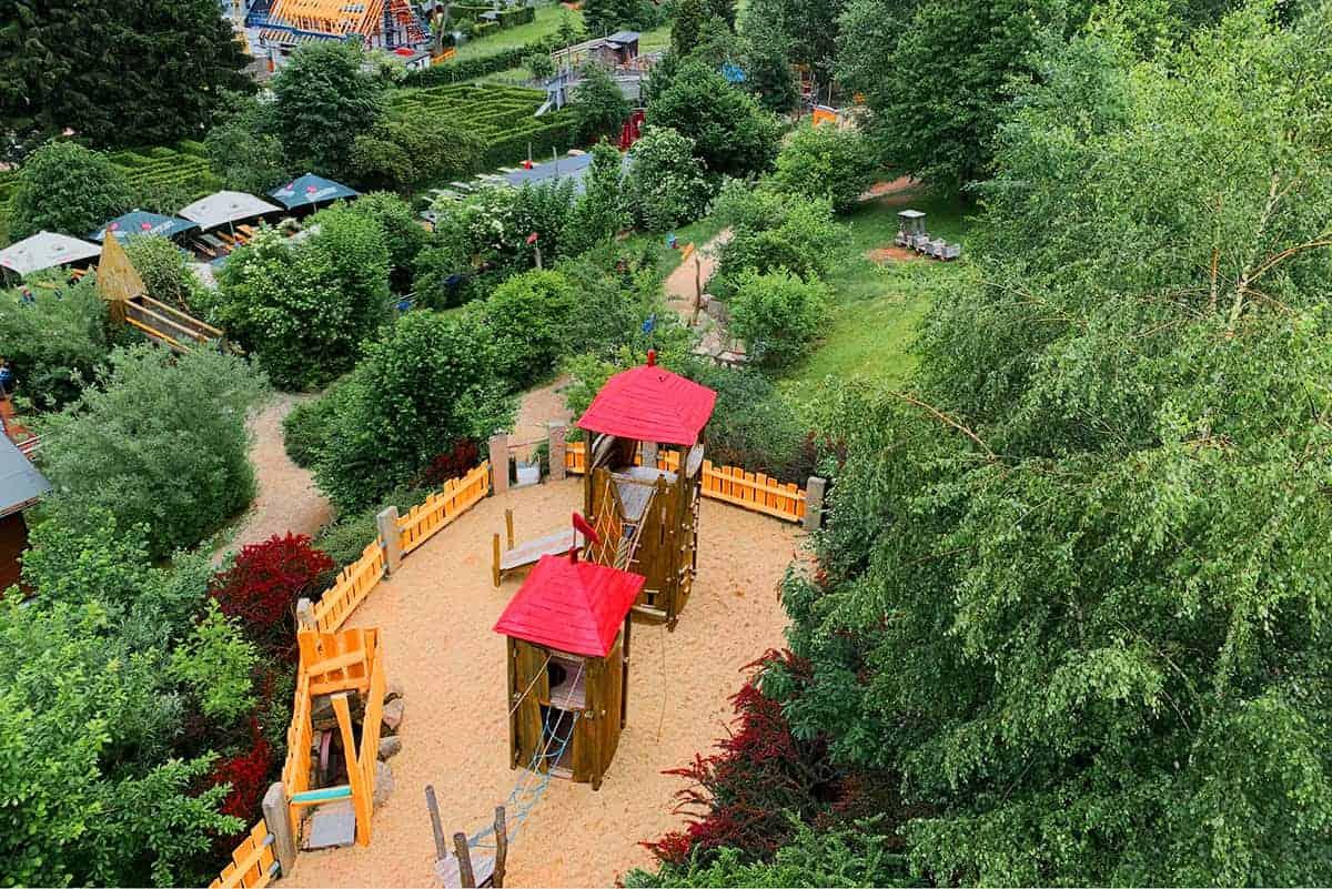 Abenteuerspielplatz in Wurzelrudis Erlebniswelt ©WR