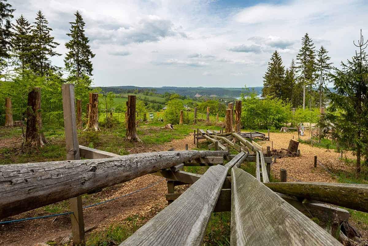 Murmelwald mit Talsperre Wurzelrudis Erlebniswelt ©WR