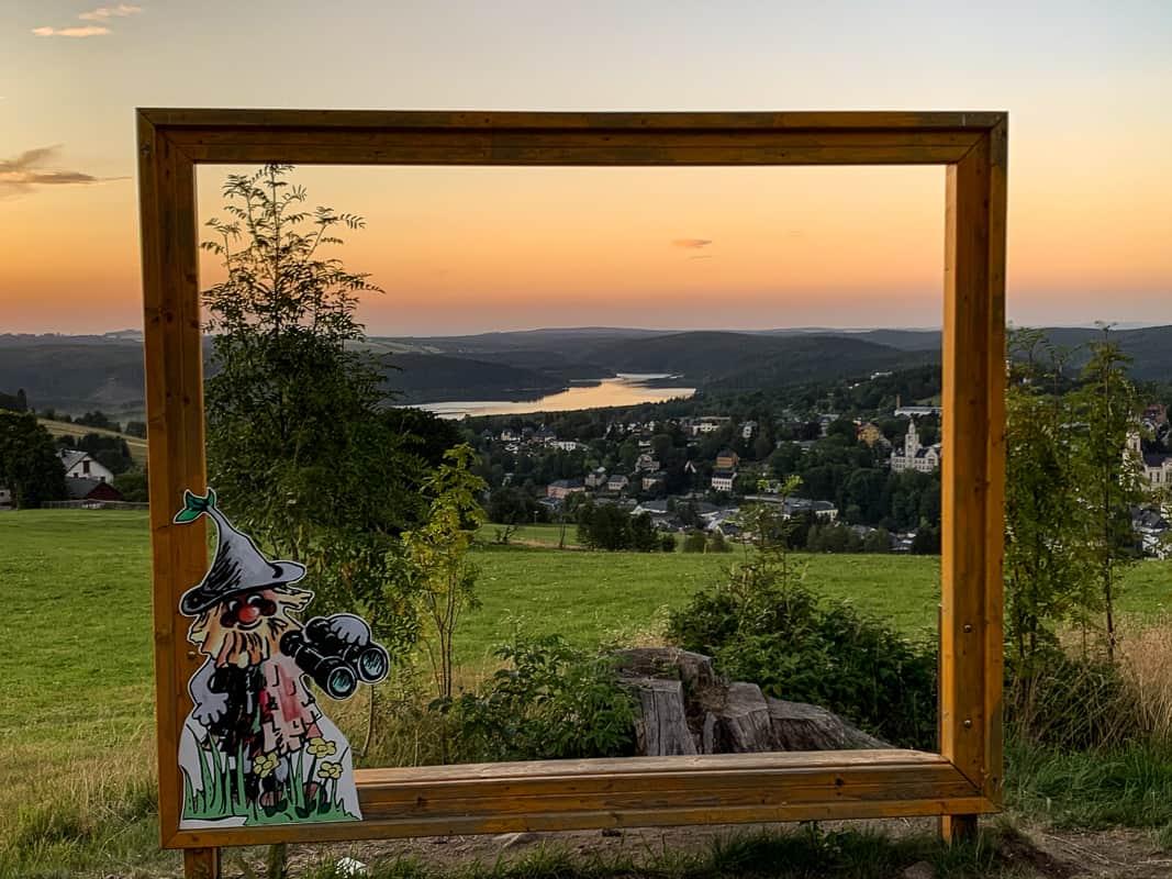 Panoramablick vom Adlerfelsen über Eibenstock © WR